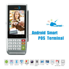Justtide Handy POS Terminal, Android System POS Terminal with Printer, Smart Card Reader POS Terminal