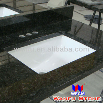 Rectangular Undermount Square Sink with Granite top