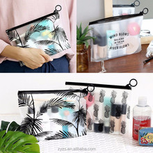 Eco Friendly clear plasic EVA PVC black Cosmetic cheap makeup travel Bag