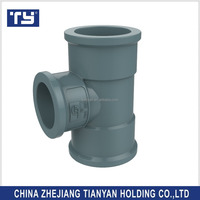 TY brand all PVC Water supply Fitting Rubber Joint din Reducing tee sizes