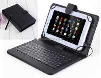 universal cover tablet 7 inch usb keyboard case cover leather protective skin cover
