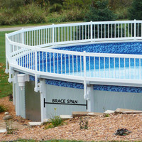 American style high quality above ground pool fence