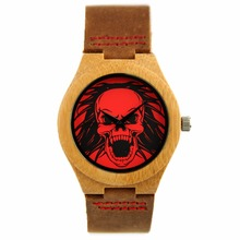 wholesale unisex natural simple style custom logo wood watch <strong>bamboo</strong> handmade