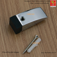 Zinc Alloy Rubber Buffer Door Draft Stopper Glass Door Stop