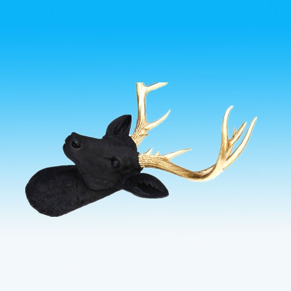 Custom handmade black and gold resin deer antler(KNS-10539)