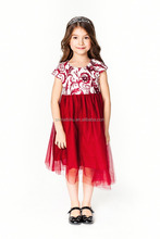 summer new fashion kid girls Knee-Length puffy dress baby