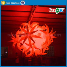 Giant inflatable advertising led balloon light ball
