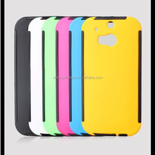 2014 New Arrival Fashion Combo Case for HTC One M8 with screen protector design mobile phone cover