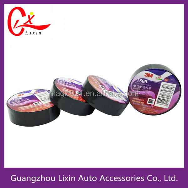 SGS Approval Wire Harness PVC Electrical Insulation Tape 3M Temflex 1500 Electrical Tape