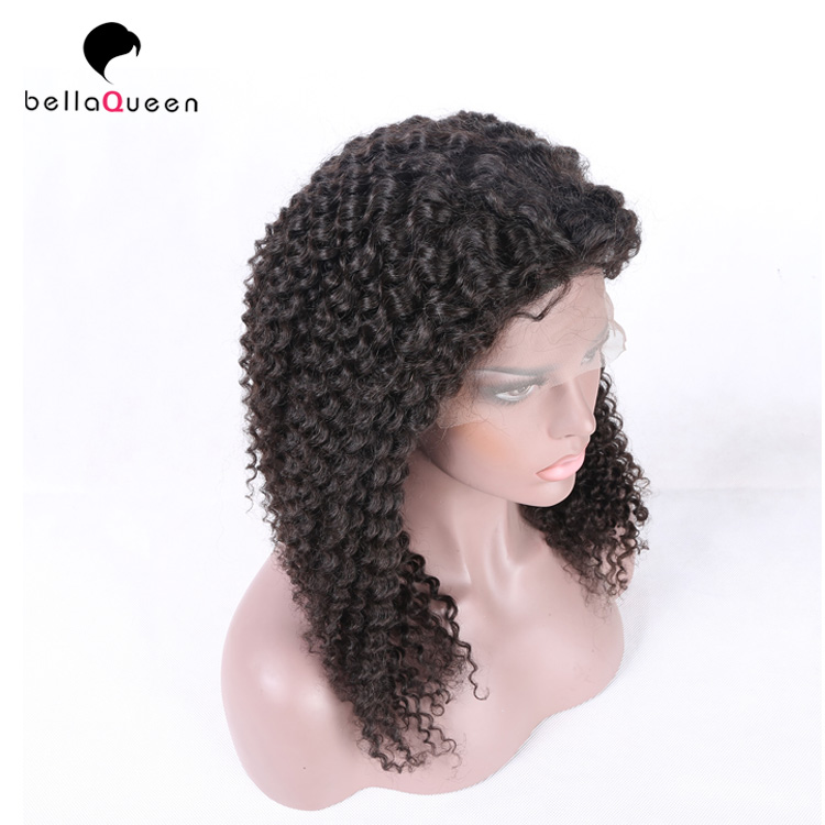 Malaysian afro kinky curl sew in hair weave curly full lace human hair wig