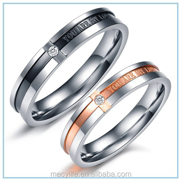 MECYLIFE shining drill diamonds you are my love wedding ring