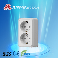leak protection ac/dc power socket,rope socket,recessed wall socket