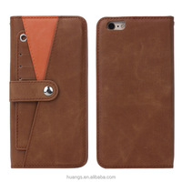 New design Detachable Leather Case for iPhone 6S, for iPhone 6S case With Spring Stand