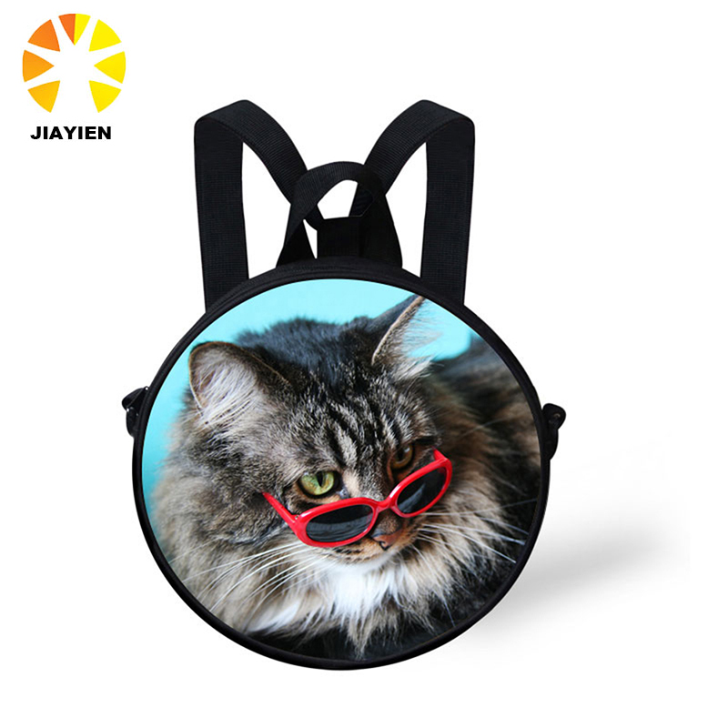OEM 3D round bag design your own custom photo backpack