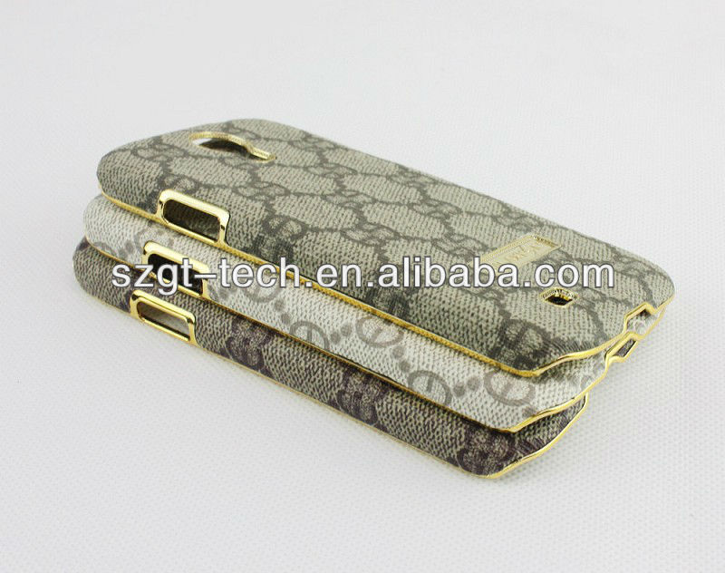 Golden metal PC plating case for Samsung galaxy S4