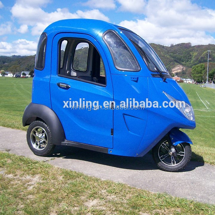 electric 4 wheel Cabin scooter;XINLING 2 Seats 60V 1.0KW SMALL ELECTRIC SMART CARS FOR SALE