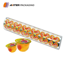 custom printing laminated materials cup sealing film for jelly