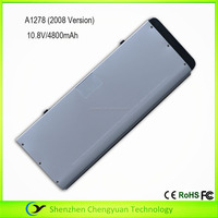 High quality laptop replacement battery for Apple A1280 New Alum Unibody MacBook Series 10.8V 4800mAh silver