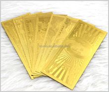 Collection DanishKrone 500 24k Gold Banknote Gold Plated Souvenir Banknote Gift