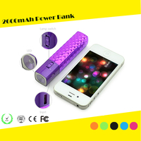 Power 2600mah Ultra Compact Lipstick Size Portable Power Bank Backup External Battery Charger for Iphones