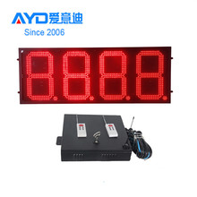 High Brightness REGULAR Red 4 Digit 7 Segment Electronics Scoreboard Wireless Gas Station LED Price Sign LED Open Sign 24inch