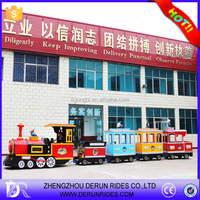 DR023-1 Amusement park Tourism Old Steam Electric trackless train for sale