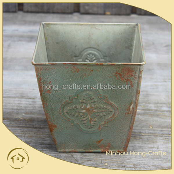 metal tall large square planters