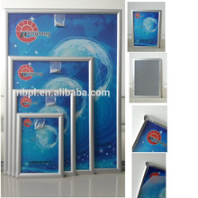 Silver 25mm aluminum wall hanging snap frame poster snap together frame 60x120cm,poster display frame