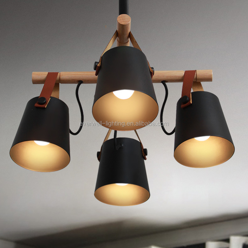 modern wooden metal art hotel lamp fabric chandelier pendant lamp