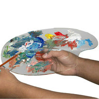 Acrylic Artists Oil Painting Palette, Art Paint Oil Acrylic Mixing Plate, Perspex Arm Palette