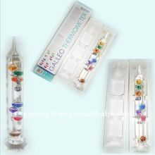 indoor decoration colorful weather glass galileo thermometer