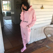 QX1486 Europe 2017 hot style autumn hot ladies hooded suit trousers two-piece outfit jogging wear