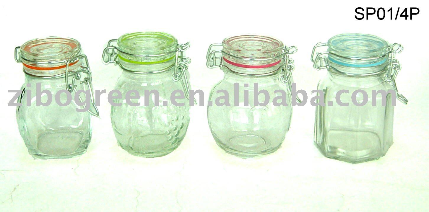 mini glass jar for storage