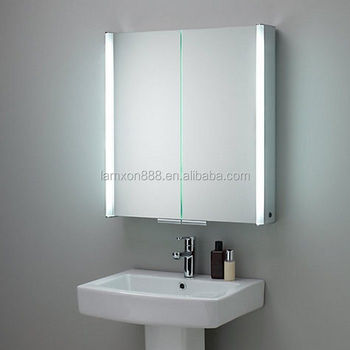 cheap price lighted led mirror cabinet bathroom cabinet stainless steel buy lighted led mirror. Black Bedroom Furniture Sets. Home Design Ideas