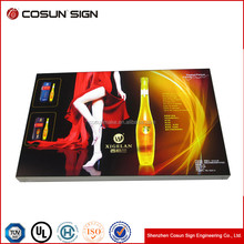high quality Wooden Case flight case or custom Pepsi fabric led aluminum snap open light box