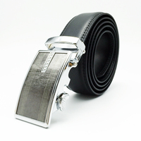 Western fashion automatic buckle mens leather ratchet belt