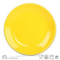 round ceramic plate with decal for Various Size