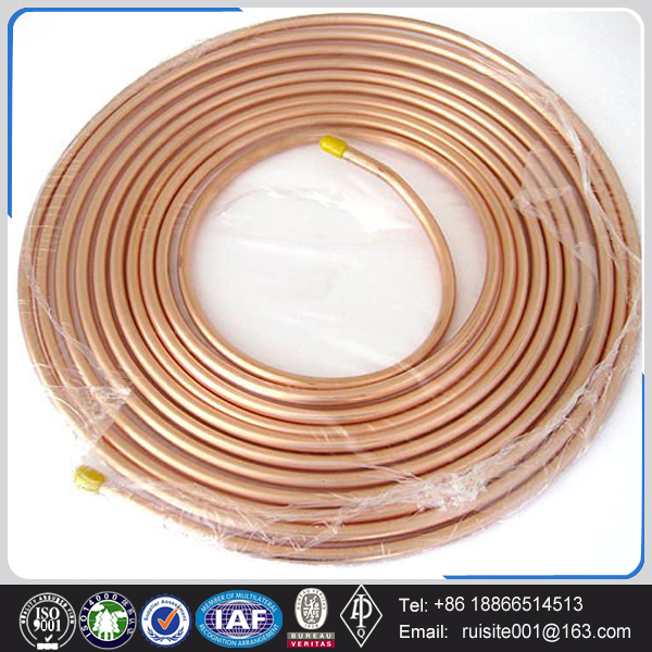 chrome plated c11000 wall thickness copper pipe for mm