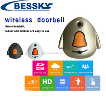 smart two way intercom 1.0megapixel night vision waterproof wifi battery powered cctv camera video doobell 720p