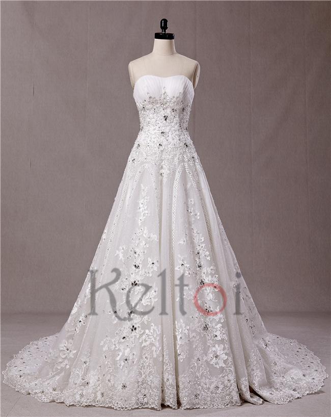 Guangzhou wedding dress factory strapless crystal beads for Guangzhou wedding dress market