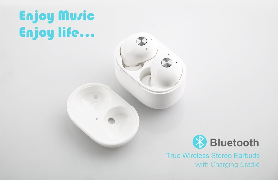 TRUE WIRELESS STEREO EARBUDS CSR 4.2 BLUETOOTH EARBUDS IN EAR HEADPHONES BUILT-IN MICRO FOR SPORTS IN CAR DRIVEING