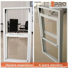 Thermally broken grill design american style glass aluminium vertical up down sliding windows sash single double hung window