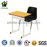 Factory Price!Used Single Wooden Student Desk and Chairs