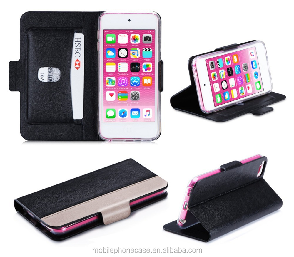 Free Samples Cheap Price Premium Leather Mobile Phone Case For ipod touch 6