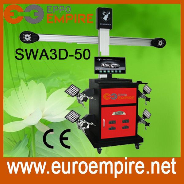MILLER bluetooth wheel alignment and balancing machine,big red ,easy software,delivery quickly with CE (SWA3D-50)