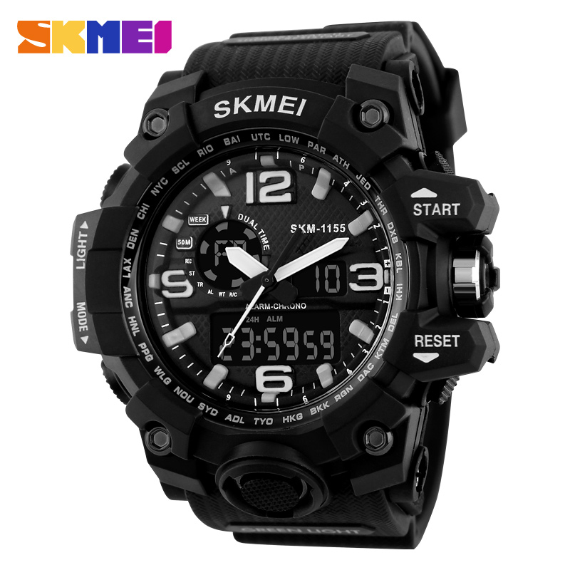 SKMEI HOT! 2016 Fahion Sport Mens/ Lady Wrist Watch With Rubber Strap