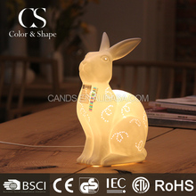 Hand made artistic animal rabbit table lamp