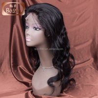 Hot selling wholesale cheap price unprocessed brazilian straight 100 human hair full lace front wigs with baby hair