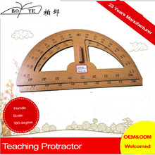 China New Large Wood 180 degree Protractor Ruler for School or office