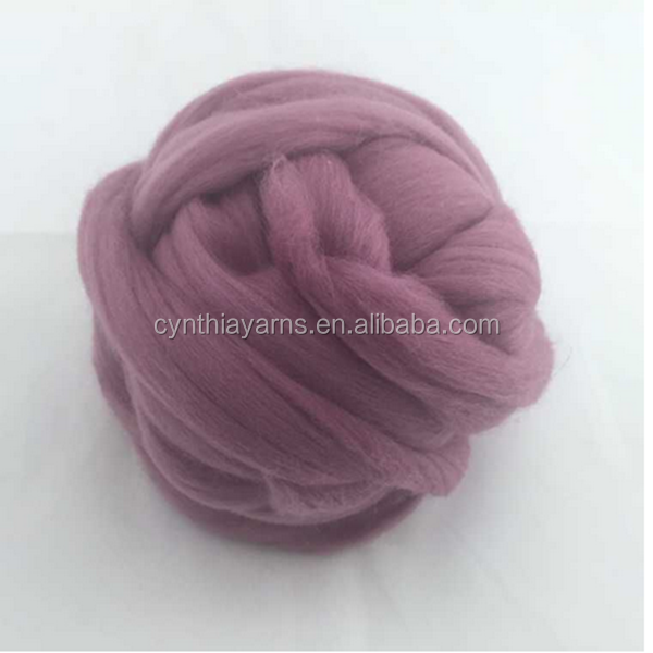 Big ball style available for very thick bulk merino wool yarn, 21-23microns